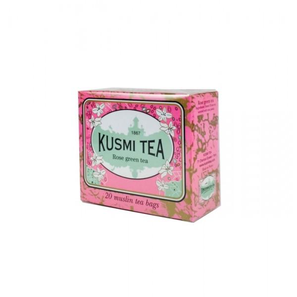 KUSMI TEA GREEN TEA ROSE 20BAGS