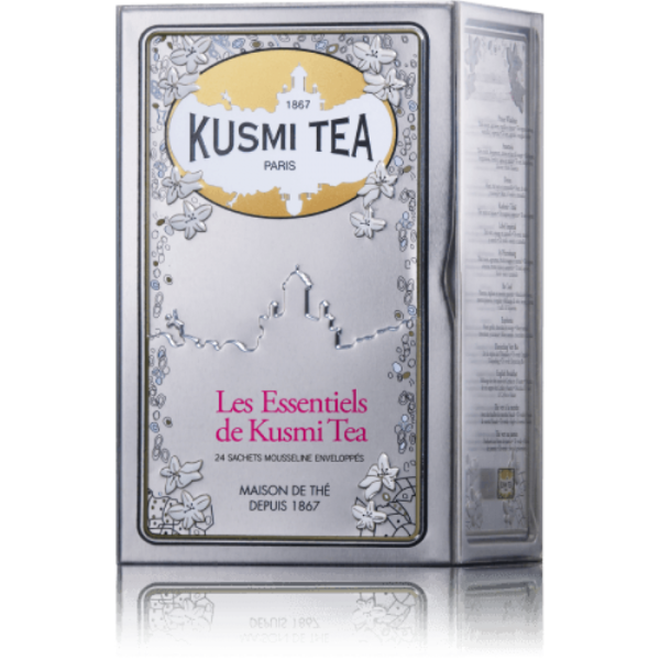 KUSMI TEA COFFRET 24 MUSLINS ESSENTIALS