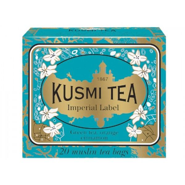 KUSMI TEA GREEN TEA LABEL IMPERIAL 20BAGS