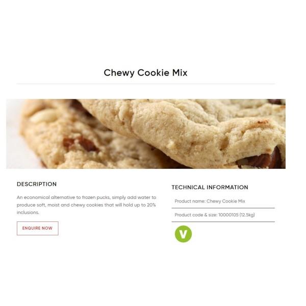 MACPHIE CHEWY COOKIE MIX 12.5KG